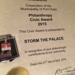 Storm The Palace Port Hope Civic Awards