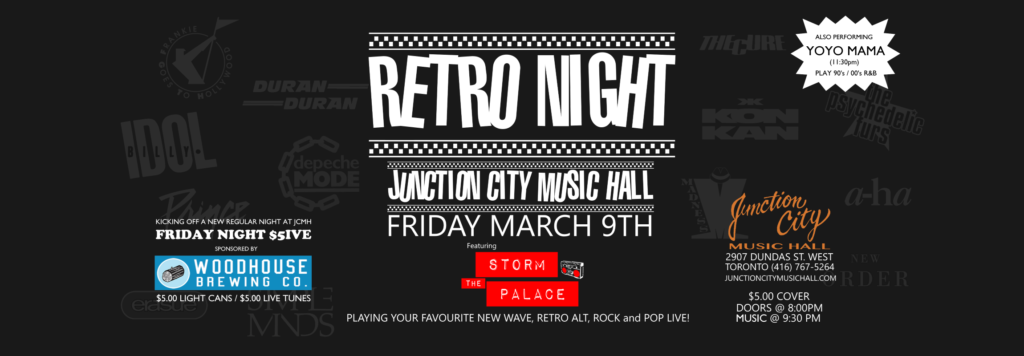 Retro 80s 90s party band toronto Storm The Palace wedding party corporate band