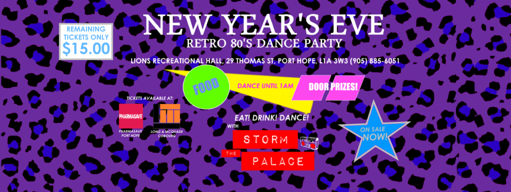 New Year's Eve 2015 Port Hope 80's Dance Party