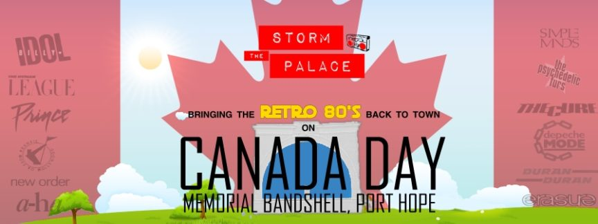 New Wave 1980s 1980's 80s Canada Day Port Hope storm the palace 80s 90s retro cover band toronto party