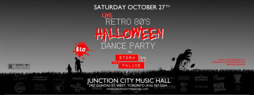 New Wave 1980s 1980's 80s Junction City Music Hall Toronto Halloween 2018 Storm The Palace 80s cover band 80's 90s 90's retro toronto party band